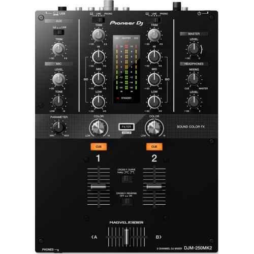 Pioneer Djm 250 Mk2 Mixer Dj 2 Canali con Scheda Audio usato  Spedito ovunque in Italia