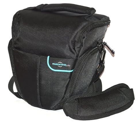 Maxsimafoto - Camera Bag for DSLR Pentax K10, K20, K3, K30, K50, K500, K5, K100, K110, K200, K7, Kx, Kr with lens attached. 'Top-loader case'' Pro quality. K-3 K-5 K-30 K-50 K-500 K-7 K-5II.