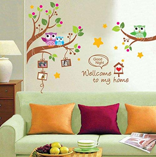ufengker-fumetto-gufi-rami-degli-alberi-adesivi-murali-camera-dei-bambini-vivai-adesivi-da-parete-re