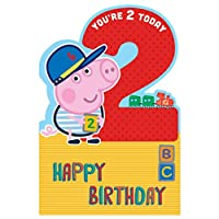 GEMMA 256109 Peppa Pig 2nd Birthday Card