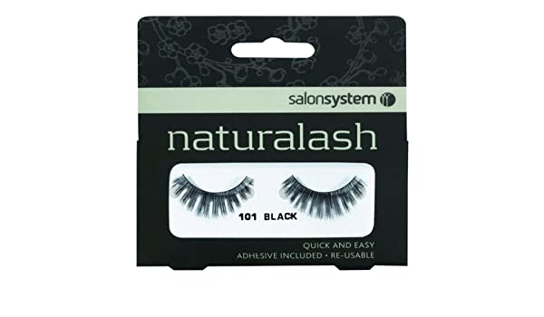 5db742332c9 SALON SYSTEM NATURALASH VOLUME FALSE EYELASHES 101 BLACK STRIP LASHES:  Amazon.co.uk: Beauty