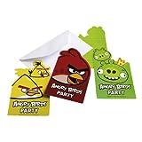 6 Biglietti inviti con busta Angry Birds CMG552368
