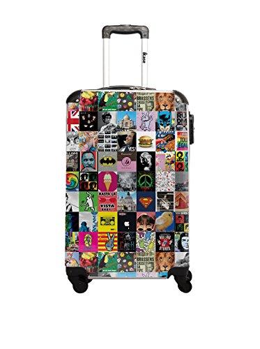 Ikase Pop Art Melange de Toutes les Licences Valise, 61 cm, 53 L, Vert