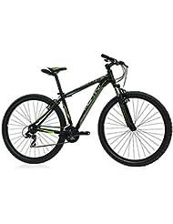 """Monty MTB KY19 - Bicicleta unisex, color negro, 20"""""""