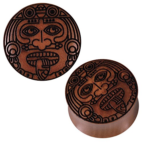 chic-net-sawoholz-plug-braun-gravur-gesicht-krieger-handgeschnitzt-organic-tribal-expander-12-mm