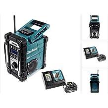 Makita DMR 110 Digital Baustellen Radio DAB+ inkl. 1x BL 1840 4,0 Ah Akku + DC 18 RC Schnell Ladegerät