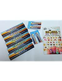 ELEMENTS+STICKER DEAL---5 Elements Slim King Size Paper, 3 Normal Tips, 2 Perforated Tips, Emojinal Nail Stickers