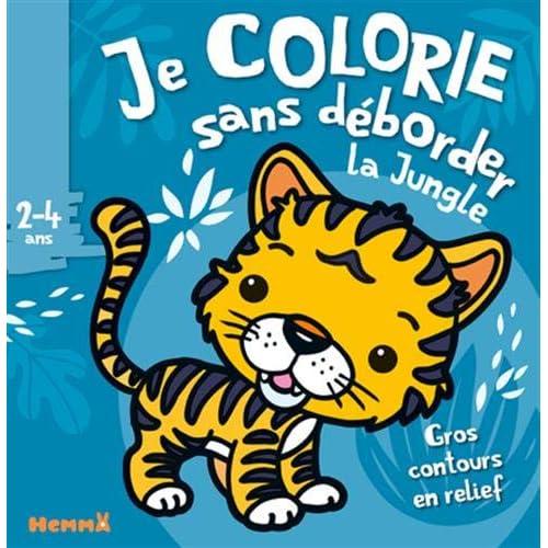 Je colorie sans déborder (2-4 ans) - Animaux de la jungle