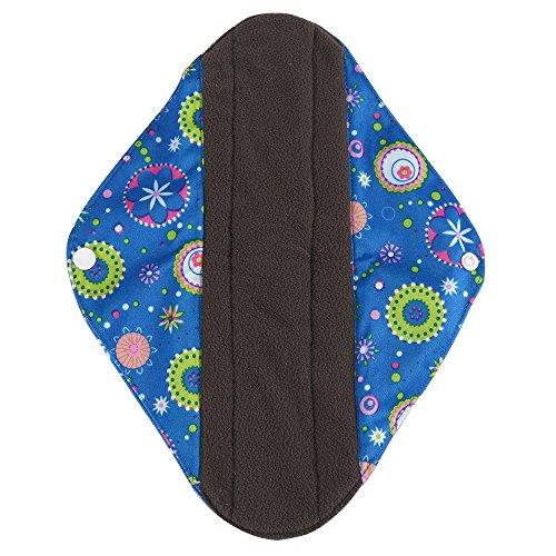 Kostüm Super Skin (Loveso Damenbinde Wiederverwendbare Bambus Tuch Waschbare Menstruations Pad Mama Sanitary Handtuch Pad (L,)