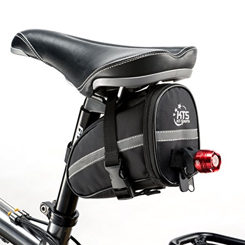 Bike Saddle Bag - KT-Sports Bicycle Seat Storage Bags - The Best Cycling Pocket accessories for Cycle Repair - 1.2L Storage Under Bikes Seat, Waterproof and Reflective