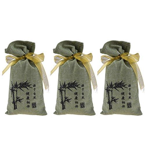 Kmise alle natur Bambus anthrazit Parfum Tasche Feuchtigkeit Absorber Luftreiniger für Home Badezimmer Kühlschrank Auto Tragbar Geruch Lufterfrischer 3PCS