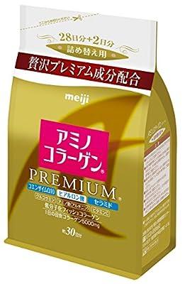 Meiji Amino Collagen Premium 214g, Refill (Import Japan)