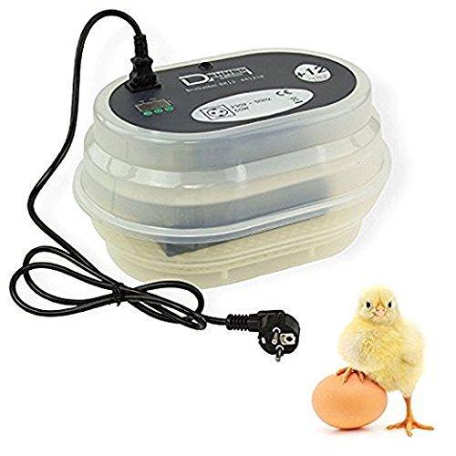 amzdeal Inkubator Brutkasten 9-12 Hühnereier