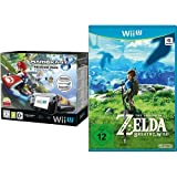 Nintendo Wii U Premium Pack schwarz, 32GB inkl. Mario Kart 8 (vorinstalliert) & The Legend of Zelda: Breath of the Wild - [Wii U]