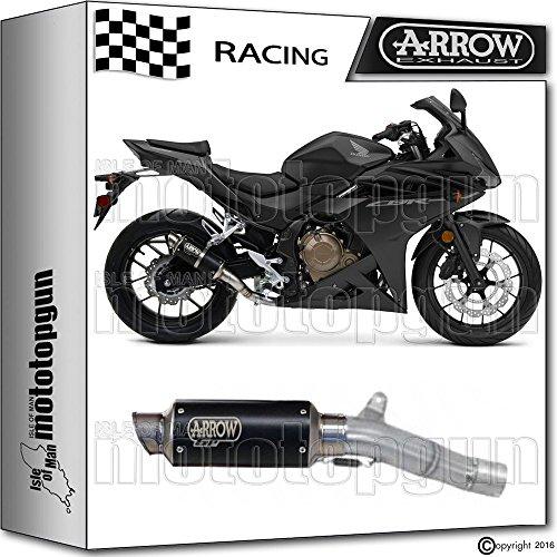 ARROW KIT AUSPUFF DB-KILLER GP-2 STAHL DARK RACE HONDA CBR 500-R 2016 16 71029GPI + 11009DB