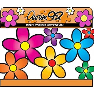 Aurum92 Multicoloured funky Daisy Car Stickers