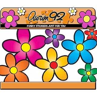 Multicoloured funky Daisy Car Stickers - by Aurum92