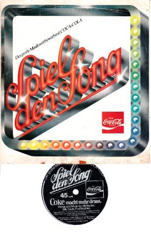 """Coca-Cola / Spiele den Song / Der große Musikwettbewerb mit COCA-COLA / PROMOTION / Bildhülle / Coca-Colo ohne # / Deutsche Pressung / 7"""" Kunststofffolie Single Schallplatte"""