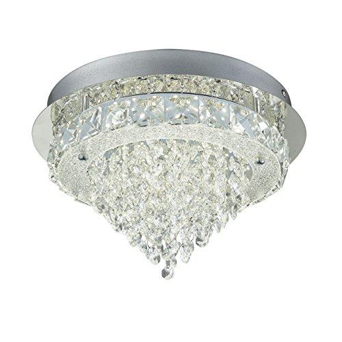 CLAXY LED Rund Kristall Glas Edelstahl Deckenleuchten Deko Design
