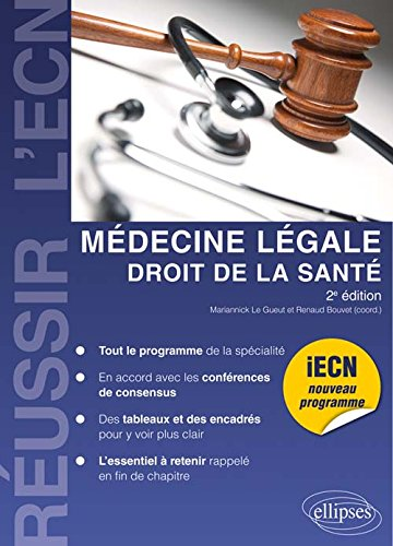 Médecine légale, droit de la santé par Mariannick Le Gueut, Renaud Bouvet, Collectif