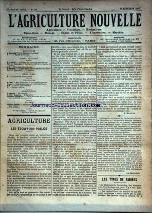AGRICULTURE NOUVELLE (L') [No 193] du 29/12/1894 - AGRICULTURE PAR MAURION - LATIERE - DE NANSOUTY - TROUDE - BLANCHARD - VITICULTURE PAR HOC - FRANC - HORTICULTURE PAR MOTTET - MAGNIEN - COUTURIER - ELEVAGE PAR SERVIN -