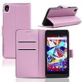 Ordica DE® Archos Diamond S Hülle Flip Case Pink Bookcase