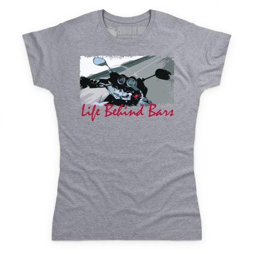 Life Behind Bars T-Shirt, Damen Grau Meliert