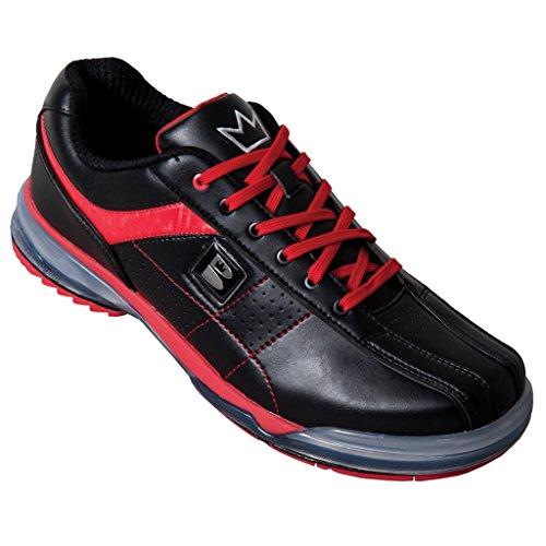 Brunswick mens tpu-x performance bowling shoes- nero/rosso Black / Red
