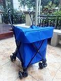 iNeibo Einkaufstrolley mit 8 Rädern und Fußbremsen, groß, wasserdicht und Klappbar. Blau
