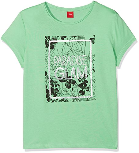 s.Oliver Mädchen T-Shirt 66.805.32.5226 Grün (Light Green 7303) 164 (Herstellergröße: L/REG)