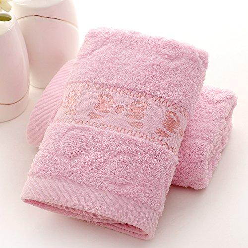 TS-nslixuan Handtuch Baumwolle Nach Face Soft SOG Wasserzeichen Zeichen Bestickt Wort Single Bad Handtuch 73 * 32 cm, Schmetterling Pulver