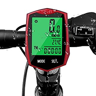 Aodoor Fahrradcomputer, Fahrradtacho Drahtlos Kabellos wasserdicht Fahrradcomputer LCD-Hintergrundbeleuchtung Fahrradtacho Tachometer für Radsport Realtime Speed Track