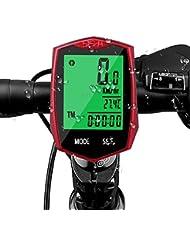 Fahrradtacho Drahtlos, Aodoor Fahrradcomputer Kabellos wasserdicht Fahrradcomputer LCD-Hintergrundbeleuchtung Fahrradtacho Tachometer für Radsport Realtime Speed Track