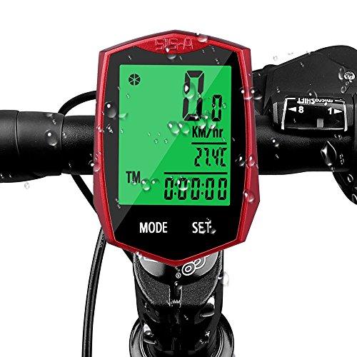 AODOOR Fahrradcomputer, Fahrradtacho Drahtlos Kabellos wasserdicht Fahrradcomputer LCD-Hintergrundbeleuchtung Fahrradtacho Tachometer für Radsport Realtime Speed Track -