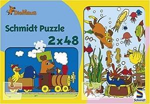 Schmidt Spiele  - El ratón, Vacaciones de Aventura, Rompecabezas Rompecabezas Pedazo 2x48