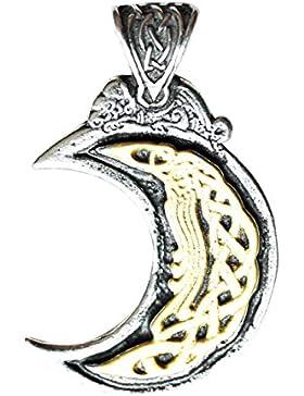 Mond - Anhänger Halskette, positive Veränderung und Inspiration durch Träume zu gewinnen - Celticund Wikinger...