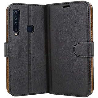 Case Collection Hochwertige Leder hülle für Samsung Galaxy A9 2018 Hülle mit Kreditkarten, Geldfächern und Standfunktion für Samsung Galaxy A9 2018 Hülle