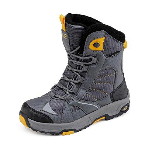 Jack Wolfskin Jungen Boys Snow Ride Texapore Schneestiefel Grau (Burly Yellow Xt)