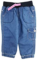 Paris Blues Little Girls' Navy Adjustable 3/4 Length Cargo Capris Short, Navy, 5/6