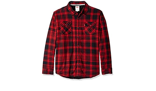 f881651ddb Levi s Men s Thorton Long Sleeve Sherpa Lined Flannel Woven