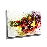 Nerdinger Flying Iron Splash - Kunstdruck auf Leinwand (60x40 cm) zum Verschönern Ihrer Wohnung. Verschiedene Formate auf Echtholzrahmen. Höchste Qualität.