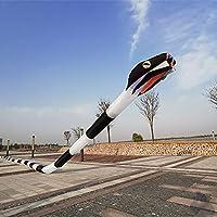 Outdoor-Aktivitäten Drachen, Kinder Kite Fun-Drachen for Kinder leicht zu fliegen mit Outdoor-Sport 3D-3D Dreidimensionale weichen aufblasbaren Adult 55m Snake Kite Geschenk (Color : Red and Yellow)