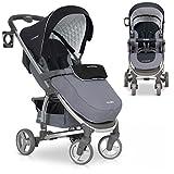 Buggy VIRAGE Alu Sport Kinderwagen für Baby ab 1. Monat - Zusammenklappbar und mit Liegefunktion - Carbon grau