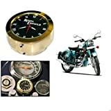 #8: Delhitraderss Bike Handlebar Mount Dial Clock Watch 7/8inch 1inch(With Bolt And Bolt Pin) Rod For Royal Enfield Bullet Classic 500
