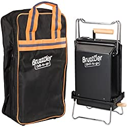 Bruzzzler Klappgrill mit Tragetasche, mobiler Grill klappbar, zum einfachen Transport und platzsparendem Verstauen