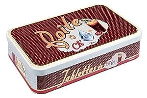 NATIVES 511640 Rébus Boîte pour Tablette de chocolat Métal Multicolore 23 x 5,5 x 13 cm