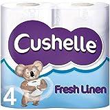 Rouleaux de papier toilette Cushelle Linge frais parfumés 4 par paquet