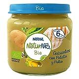 Nestlé Naturnes Bio - Puré de guisantes con Patata y Pollo - Puré Para bebés - 6x200g