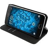 PhoneNatic Kunst-Lederhülle für Lenovo Moto G5 Book-Case schwarz + 2 Schutzfolien