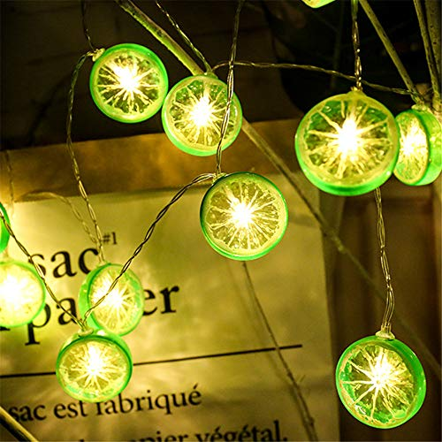 String Lampe Leds Kreative Lemon Scheiben Led Lichterketten Usb Schnittstelle Hausgarten Festival Weihnachtsdekoration Lemon Obst Lampe Bronze 3 Meter20 Lampen (Batterien) (Pas-scheibe)